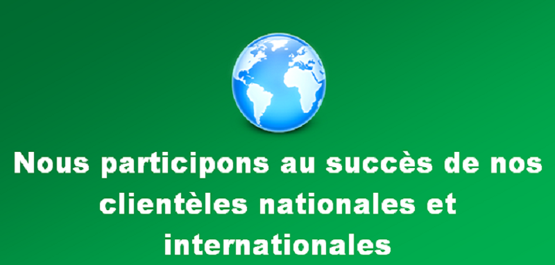Clienteles nationales et internationales